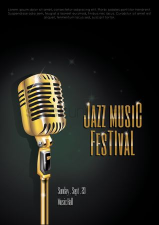 Microphone : Jazz music festival poster