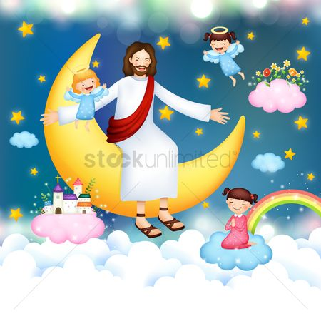 Moon : Jesus listening to girl s prayer