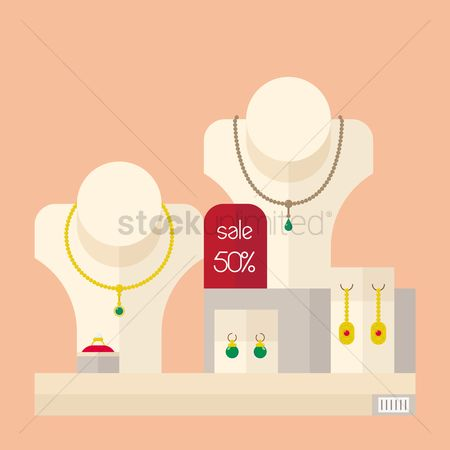 Jewelleries : Jewelry with sale tag