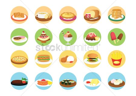 Biscuit : Junk food icons
