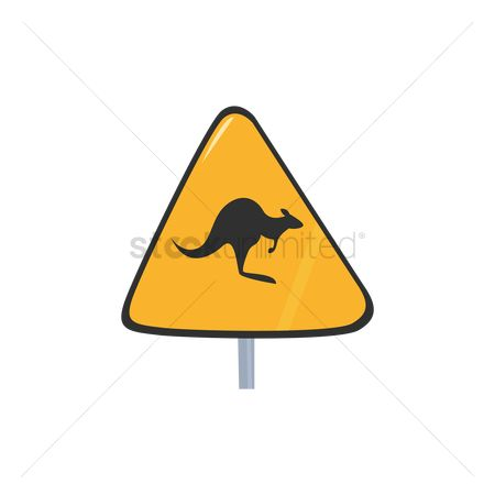 Beware : Kangaroo passing sign