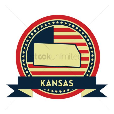 Kansas : Kansas map label