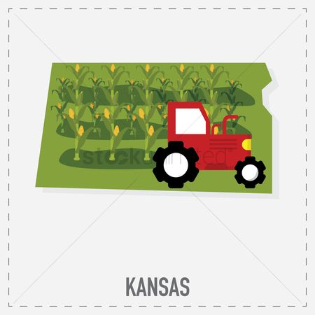 Kansas : Kansas map sticker