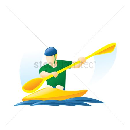 Paddle : Kayaking in the water