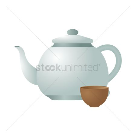 Teapot : Kettle with cup