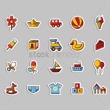 Kids : Kid toy stickers