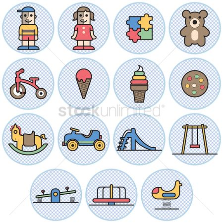 Teddybear : Kids and toys icons