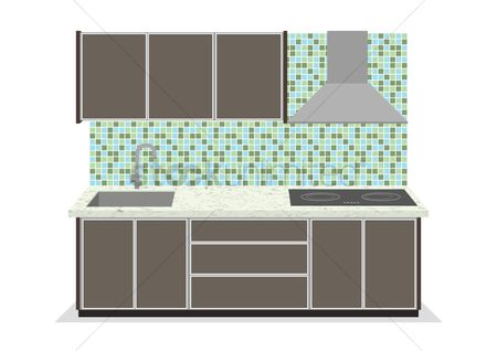 Stove : Kitchen cabinets