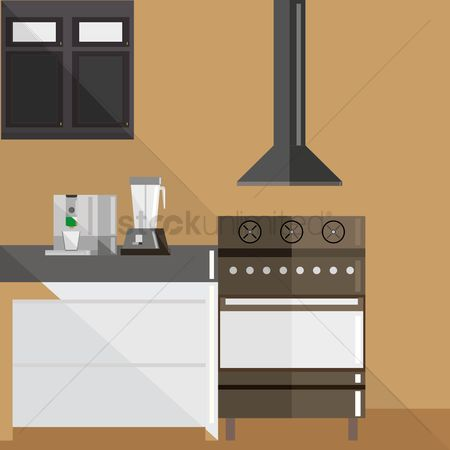 Stove : Kitchen interior