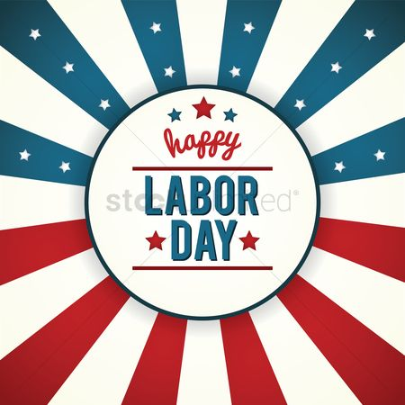 United states : Labor day poster
