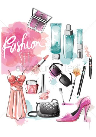 Cosmetic : Ladies fashion set