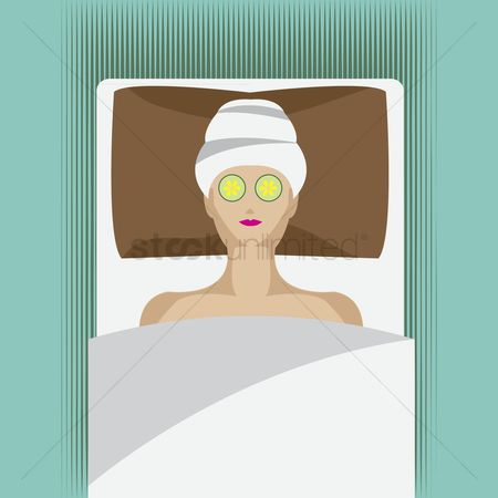 Health cares : Lady at spa