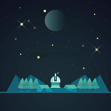 Tents : Land space and telescope wallpaper