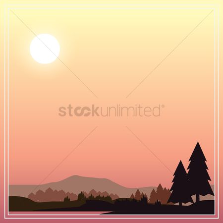 Sunray : Landscape background design