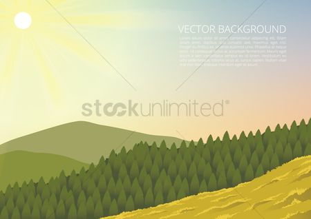 Sunray : Landscape background