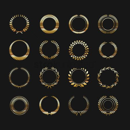 Copyspaces : Laurel wreath set