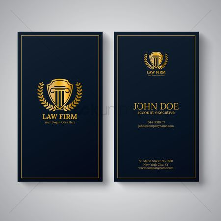 Address : Law firm business card design