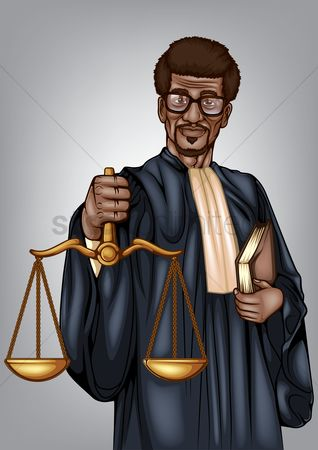Equality : Lawyer holding scales of justice