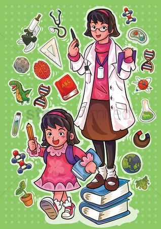 Kids : Learn science poster design