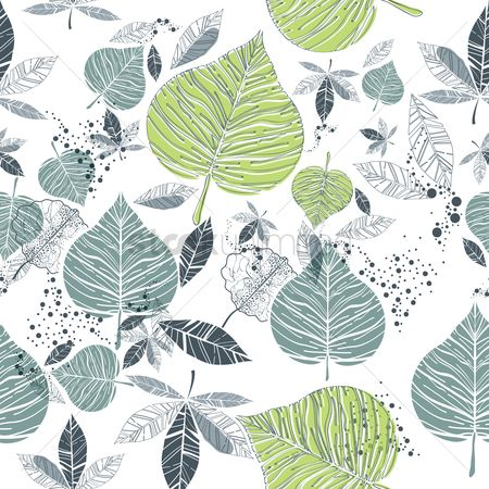 Nature : Leaves background design