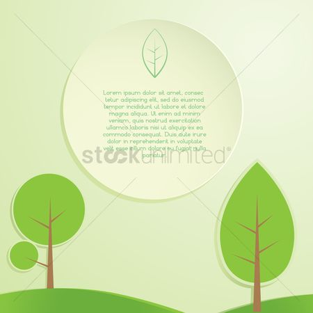 Circular : Leaves banner background