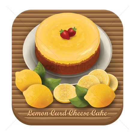 Slices : Lemon curd cheese cake