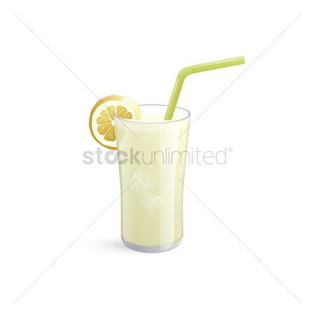 Straw : Lemon juice