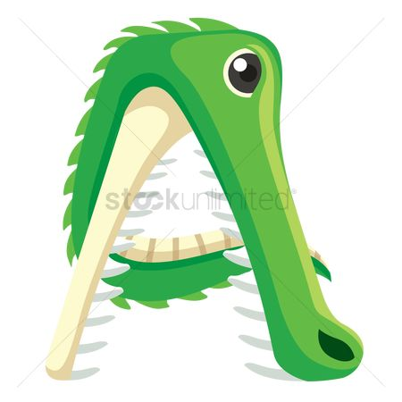 Learn : Letter a for alligator