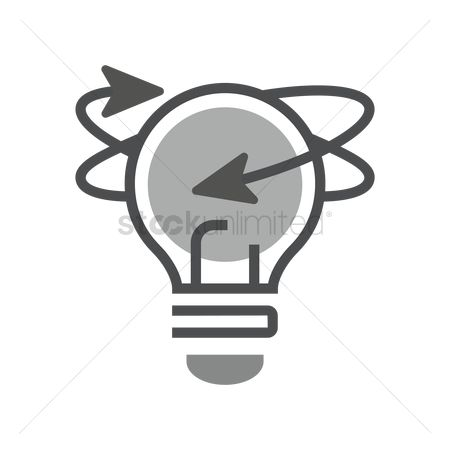 Imaginations : Light bulb with arrows icon