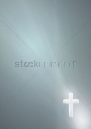 Lighting : Light shining on a cross poster