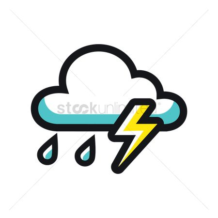 Drips : Lightning with cloud icon