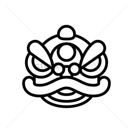 Free Chinese Lion Dance Head Stock Vectors Stockunlimited