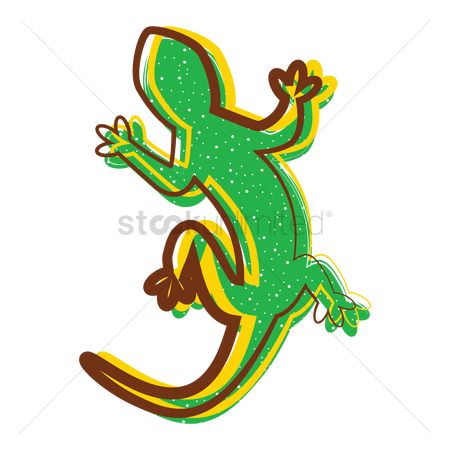 Households : Lizard sticker