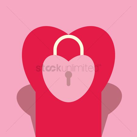 Heart : Lock in a heart