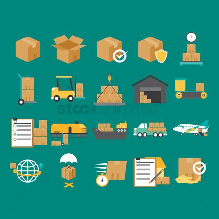 Boxes : Logistic and delivery concept
