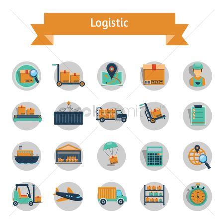 Clocks : Logistics delivery icons