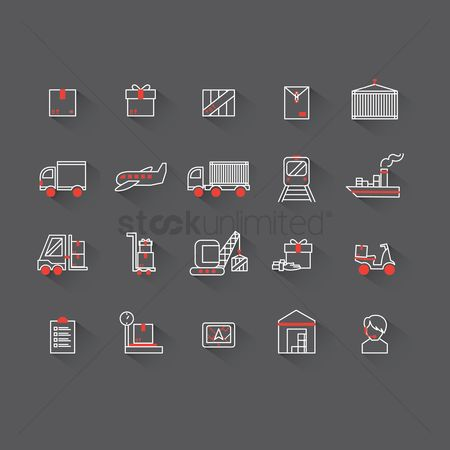 Scooters : Logistics icons