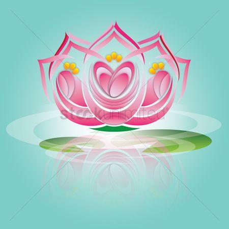 Free Lotus Flower Background Stock Vectors Stockunlimited