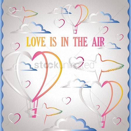 Valentine : Love is in the air card