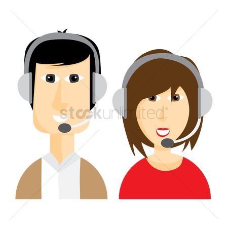 Executive : Man and women with headphones