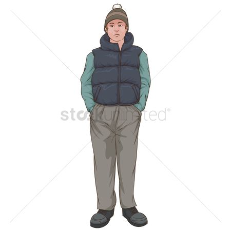Pullover : Man in warm clothing