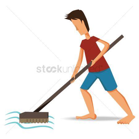 Free Sweeping Mop Stock Vectors | StockUnlimited
