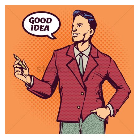 Smart : Man saying good idea