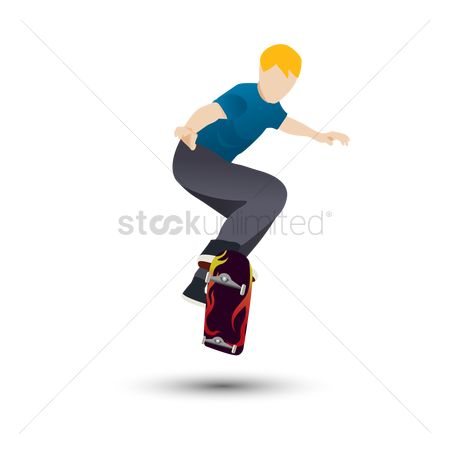 Skateboard : Man skating