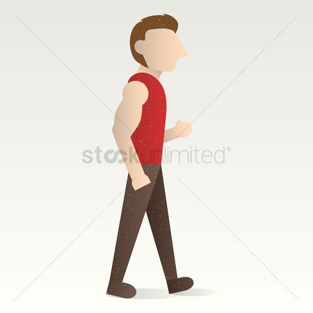 Contractor : Man walking with hand in his pocket