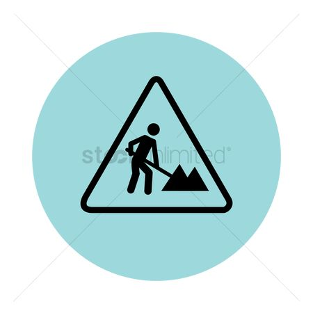 Beware : Man working sign
