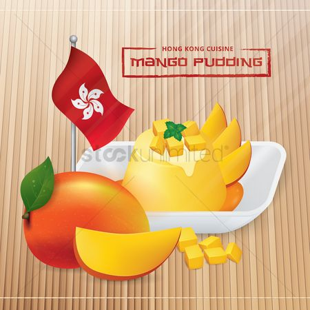 Mangoes : Mango pudding