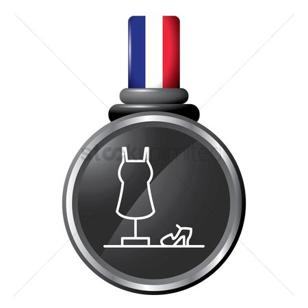 Tricolored : Mannequin in a medal