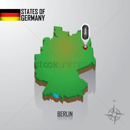Free Germany Map Stock Vectors Stockunlimited