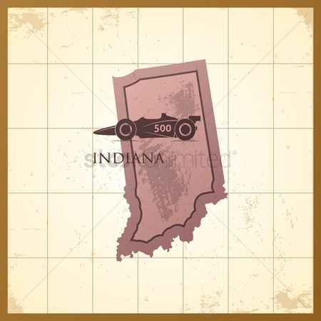 Indiana : Map of indiana state